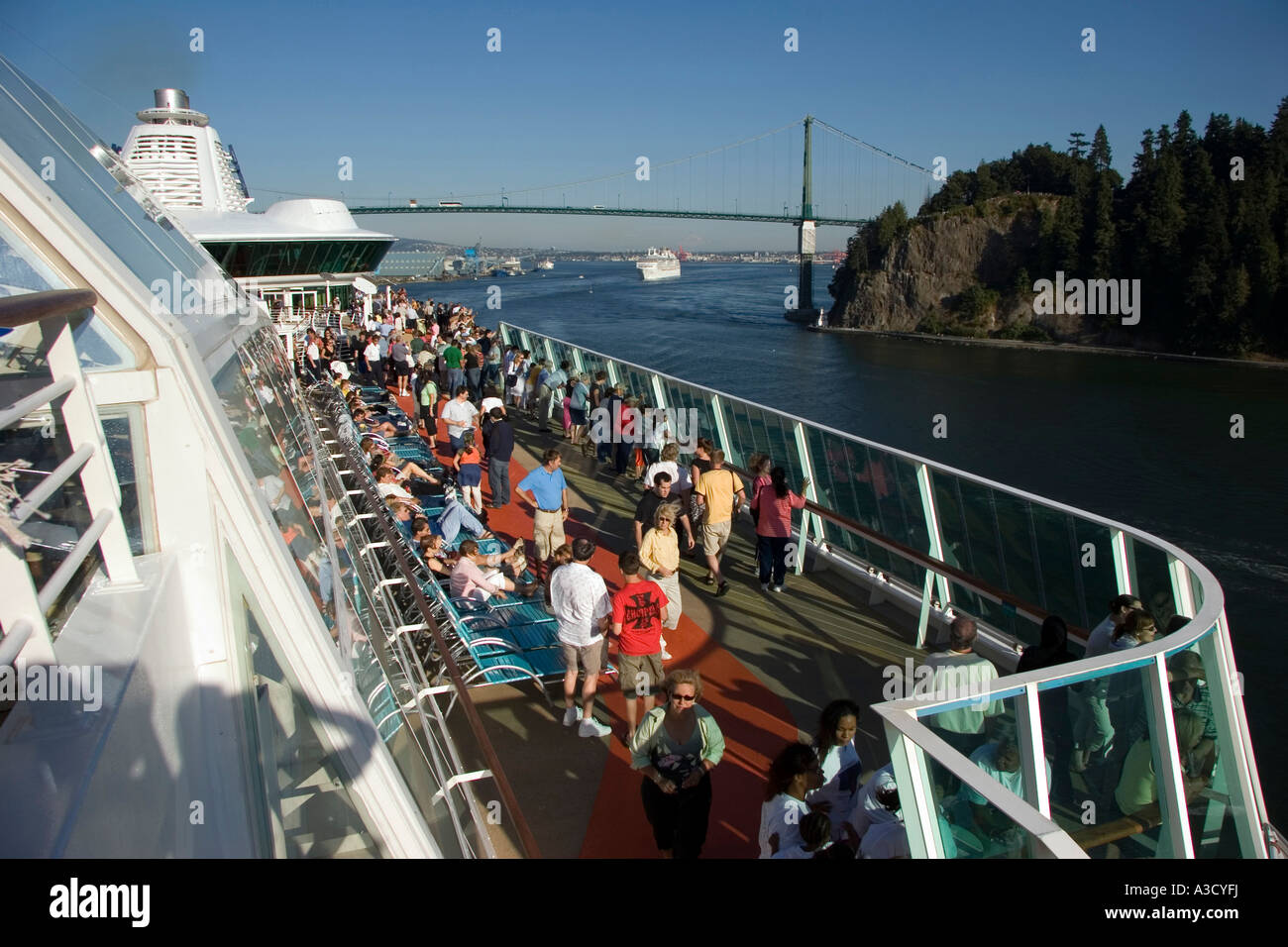 Cruise Ship Are Leaving Vancouver Under The Stanley Bridge For - Cruise ship route vancouver to alaska