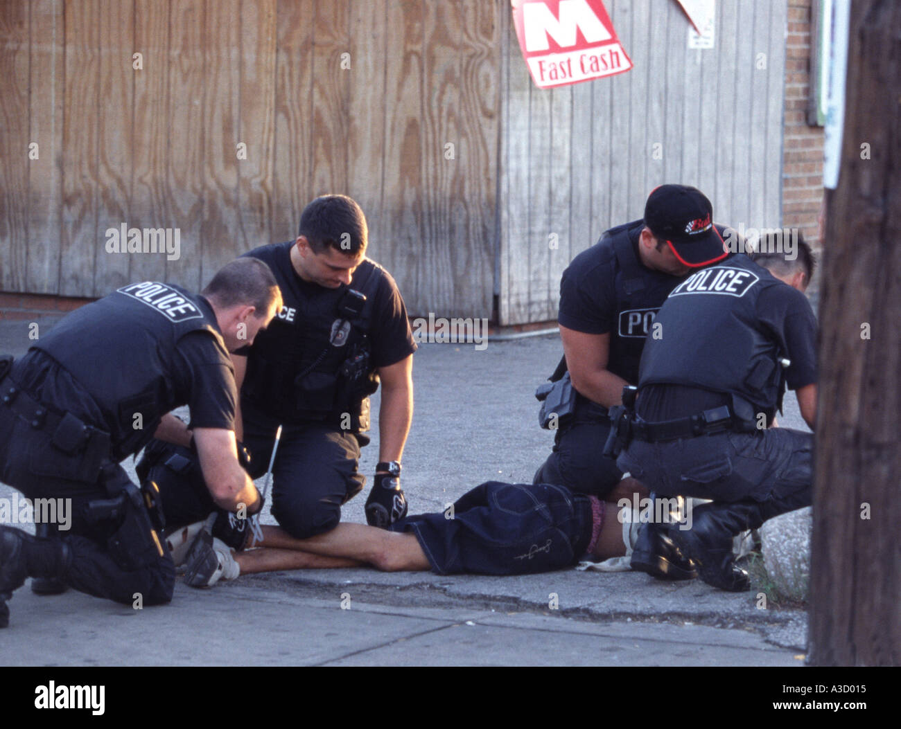 Police officers making arrest. Kansas City, MO, Police ...