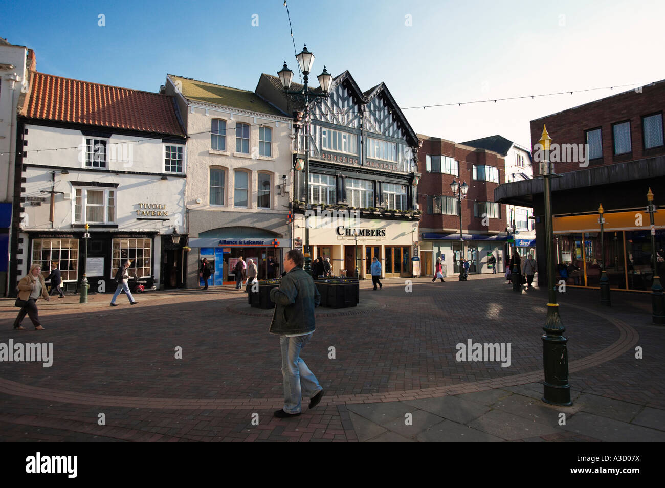 Old Market Place At Grimsby Lincolnshire England Uk Stock