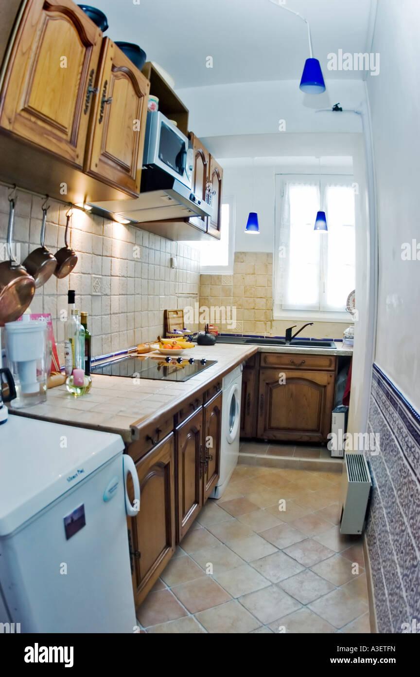 paris france, after renovations, apartment kitchen italian