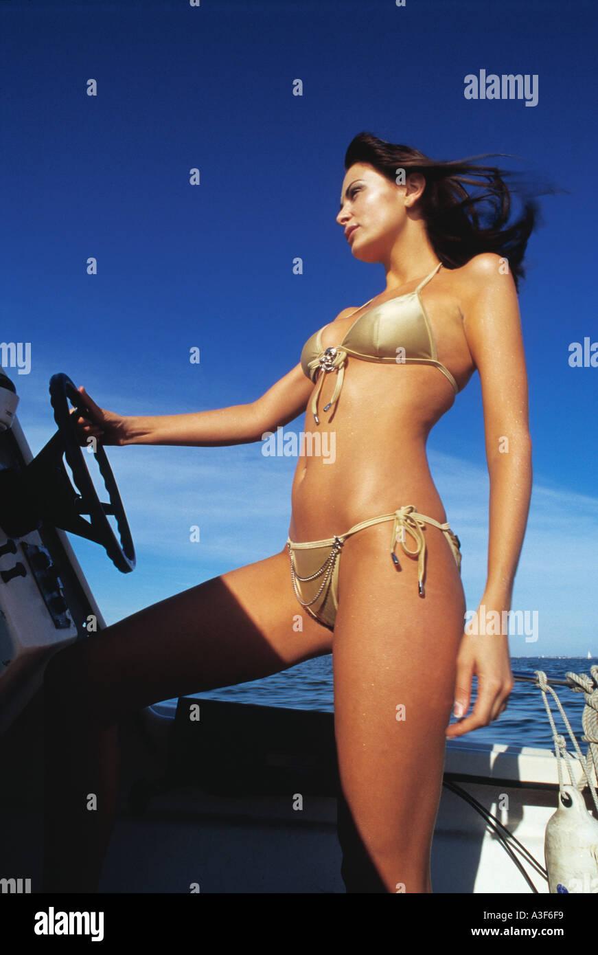 Boat bikini fishing