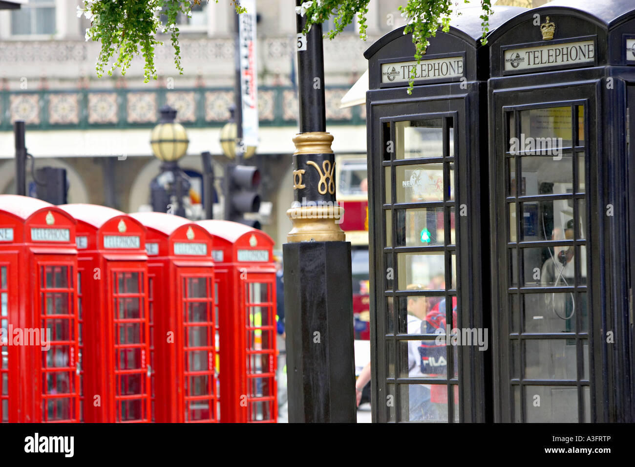 Telephone booths in London England telephone booth England Europe ...