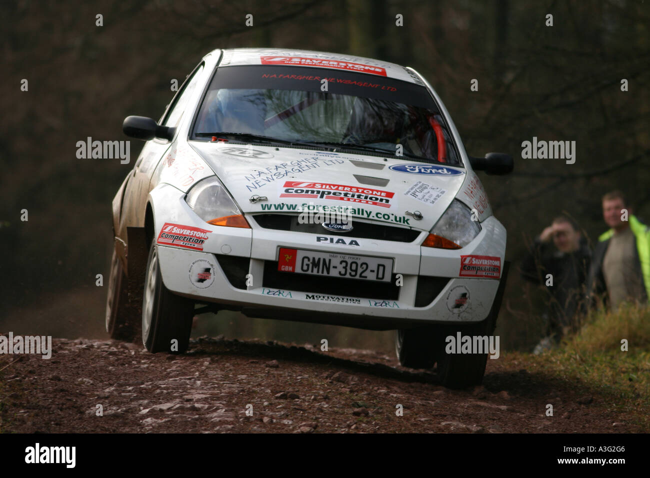 Ford KA car racing in the grizedale stages rally, lake district ...