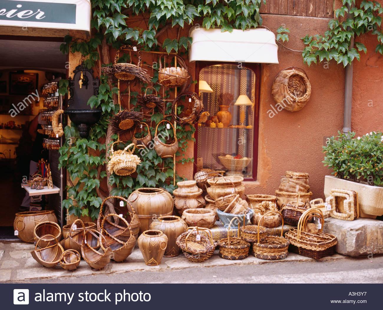 Shop Roussillon Provence France Store Market Basket Stock Photo ...