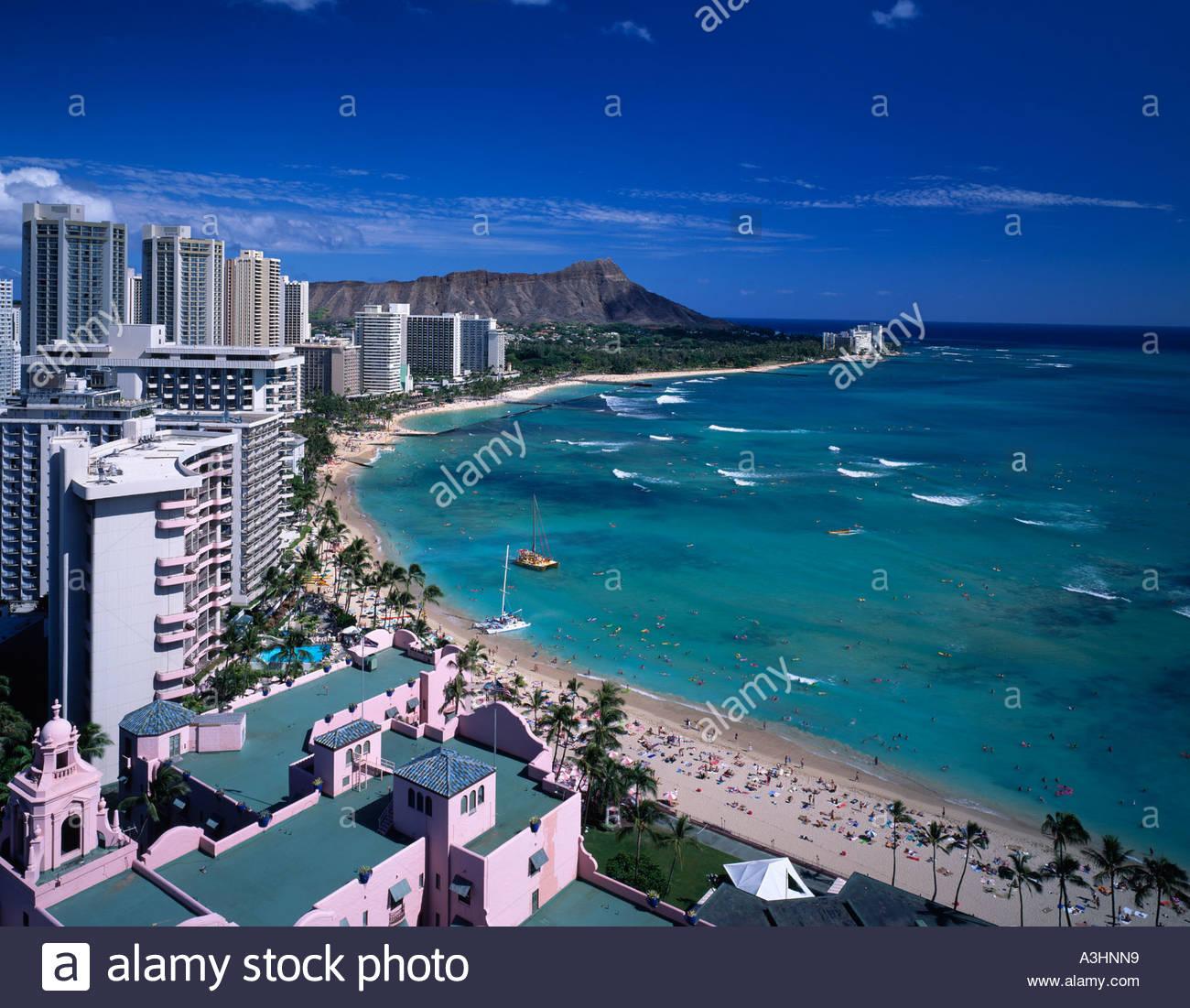 waikiki beach diamond head sheraton hotels resorts waikiki oahu hawaii sightseeing sea wave sandy beach - Oahu Hotels And Resorts