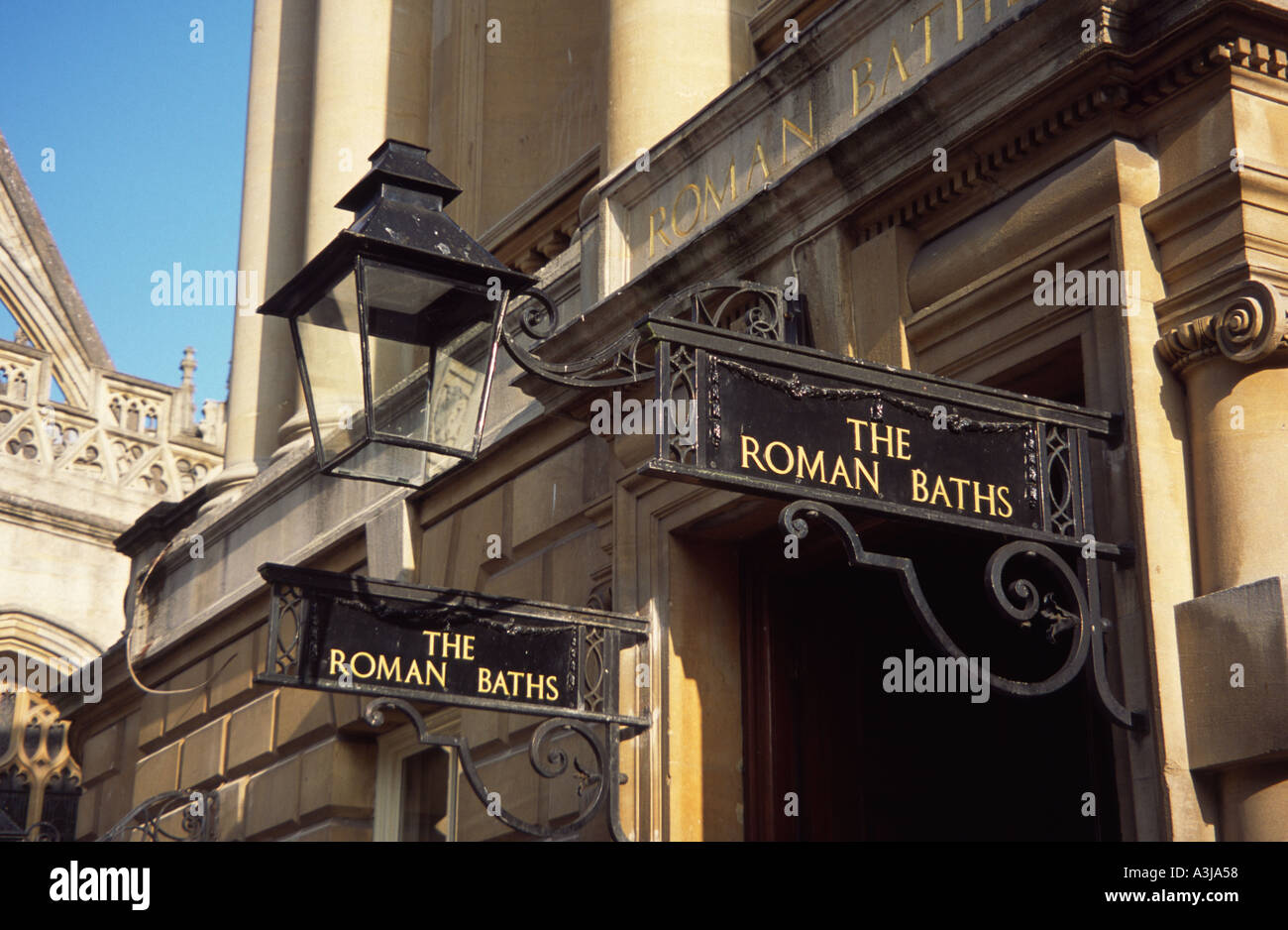 Entrance to the Pump Room and the Roman Baths Bath Spa, Somerset ...