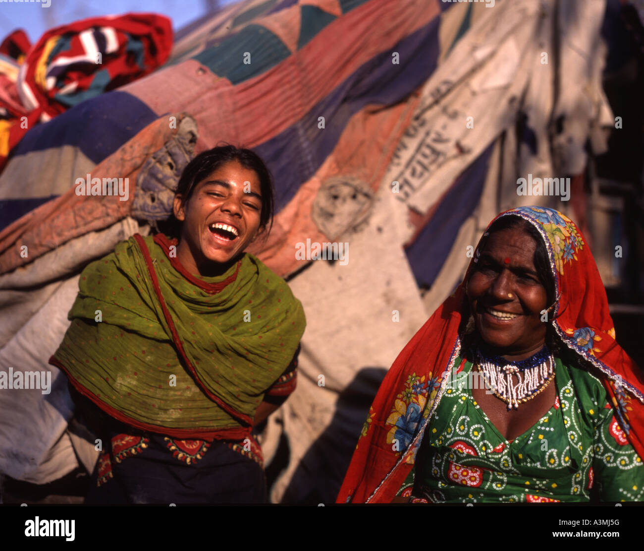 Mother and daughter of family entertainment troupe of tent dwellers Rajhastan India  sc 1 st  Alamy & Mother and daughter of family entertainment troupe of tent ...