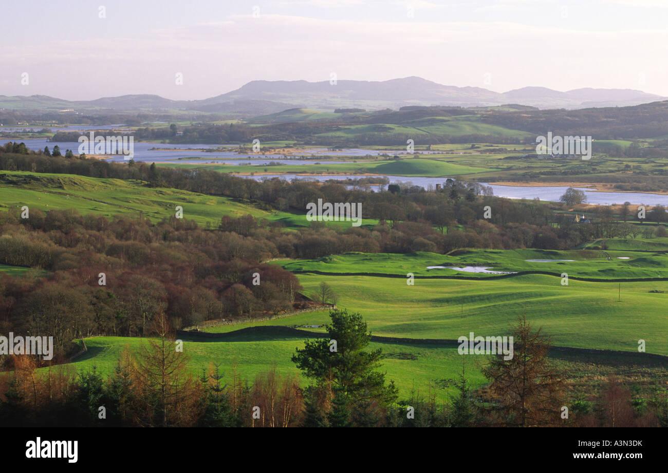 Stock Photo  Winter Landscape Looking Down Loch Ken To Bengairn Hill Near  Castle Douglas Scotland Uk