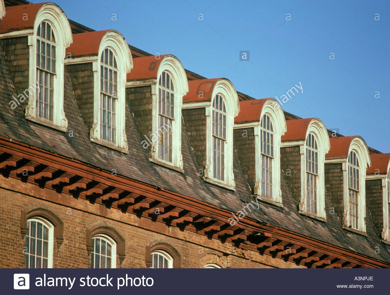 harmony textile mills mansard roof and dormer windows of