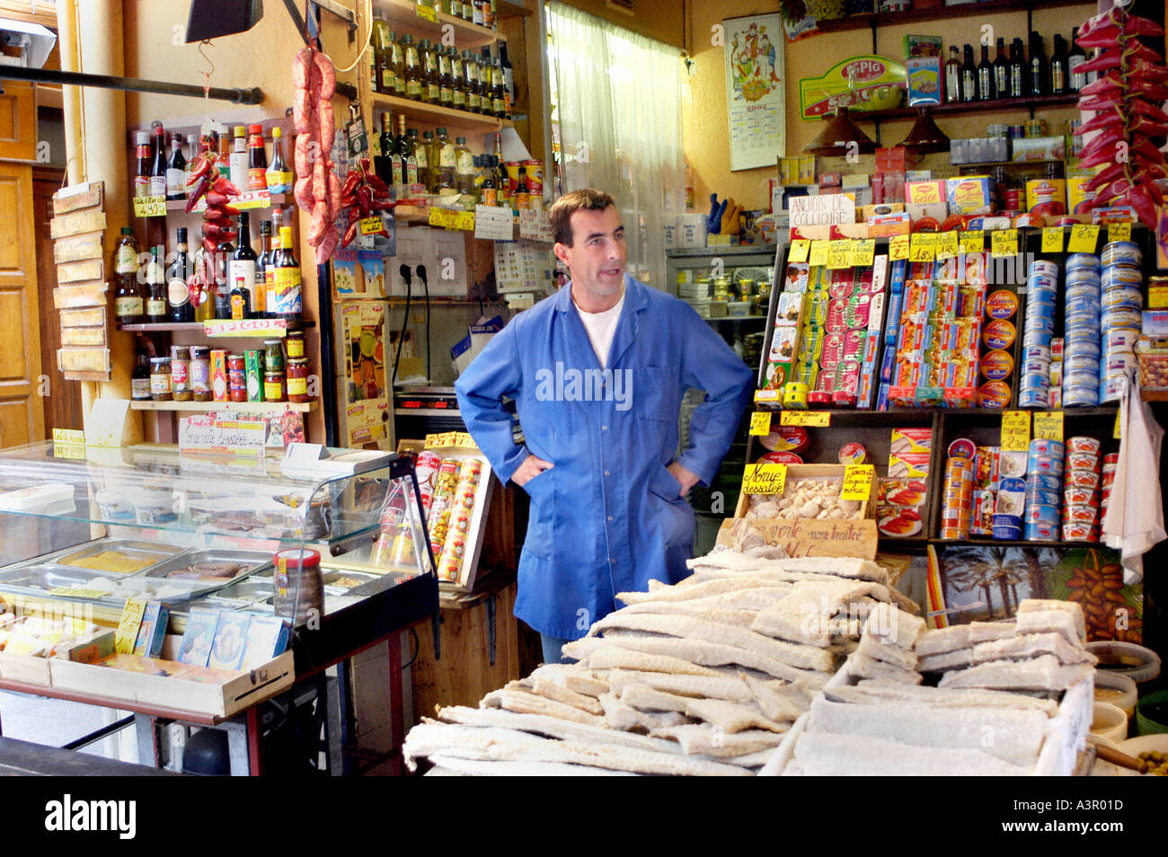 Perpignan france small business man in general food store in stock photo royalty free - Boutique free perpignan ...