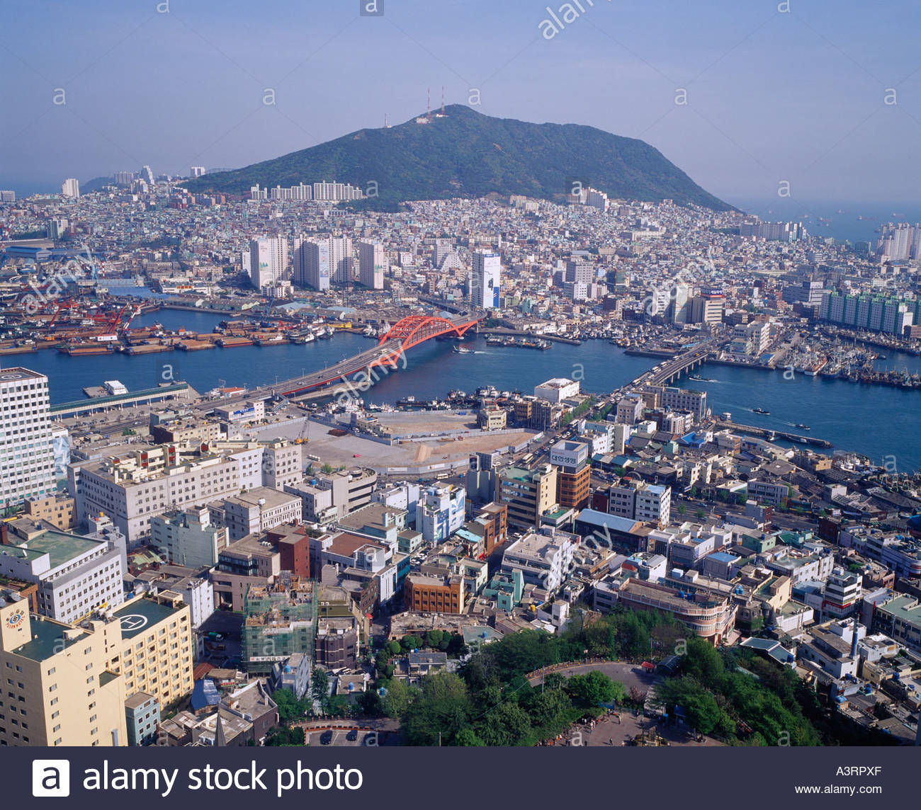 Pusan Port View Pusan South Korea Stock Photo, Royalty
