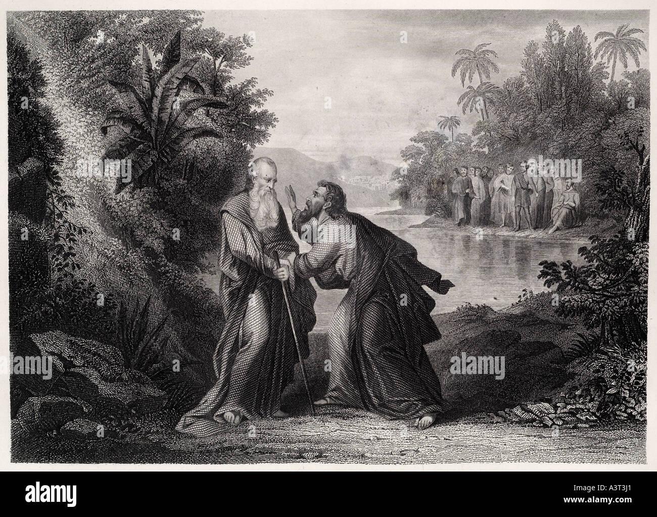 elijah taking leave of elisha Old Testament bible ...