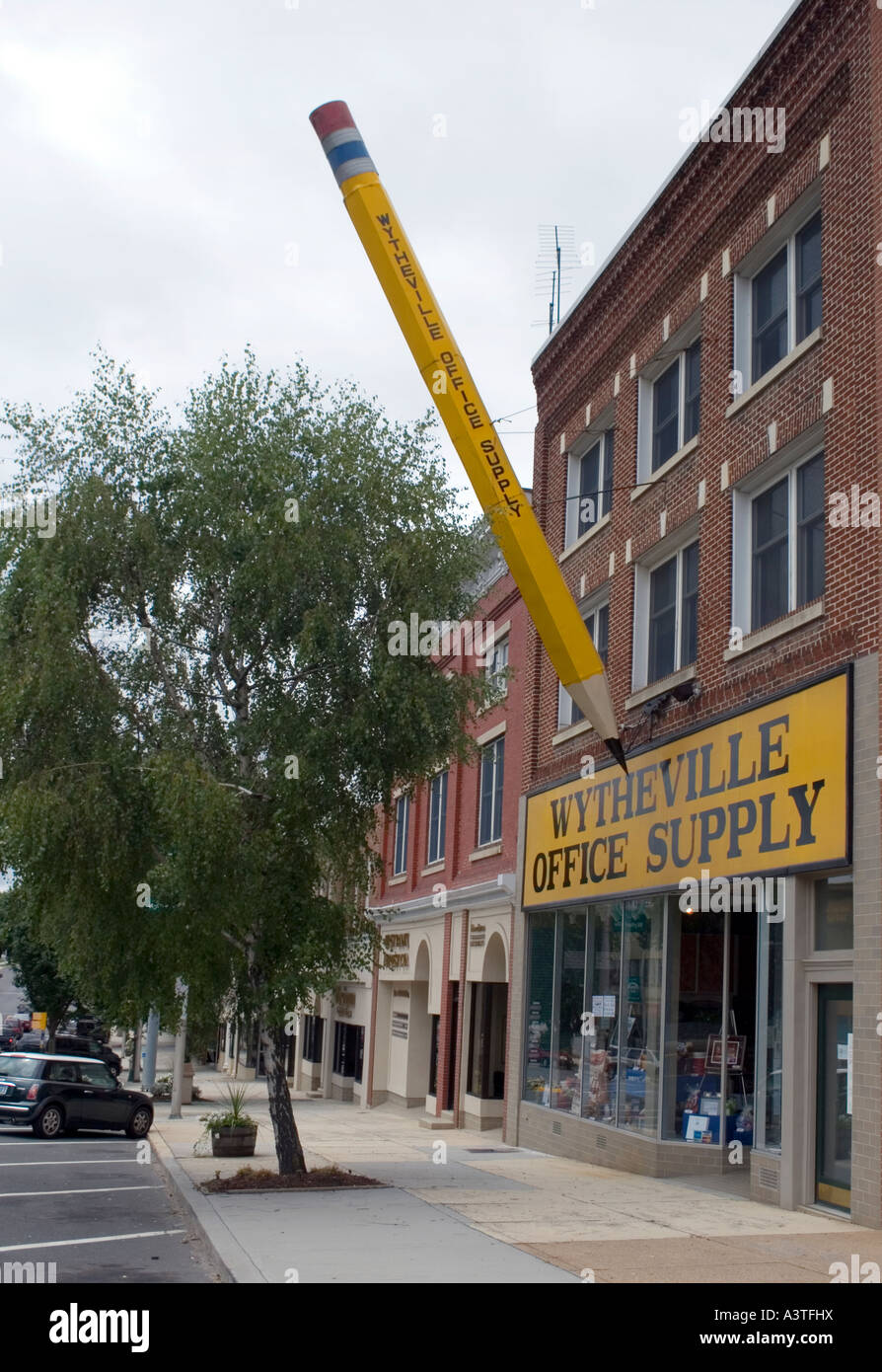 giant office supplies. Giant Pencil In Front Of The Wytheville Virginia Office Supply Store Supplies G