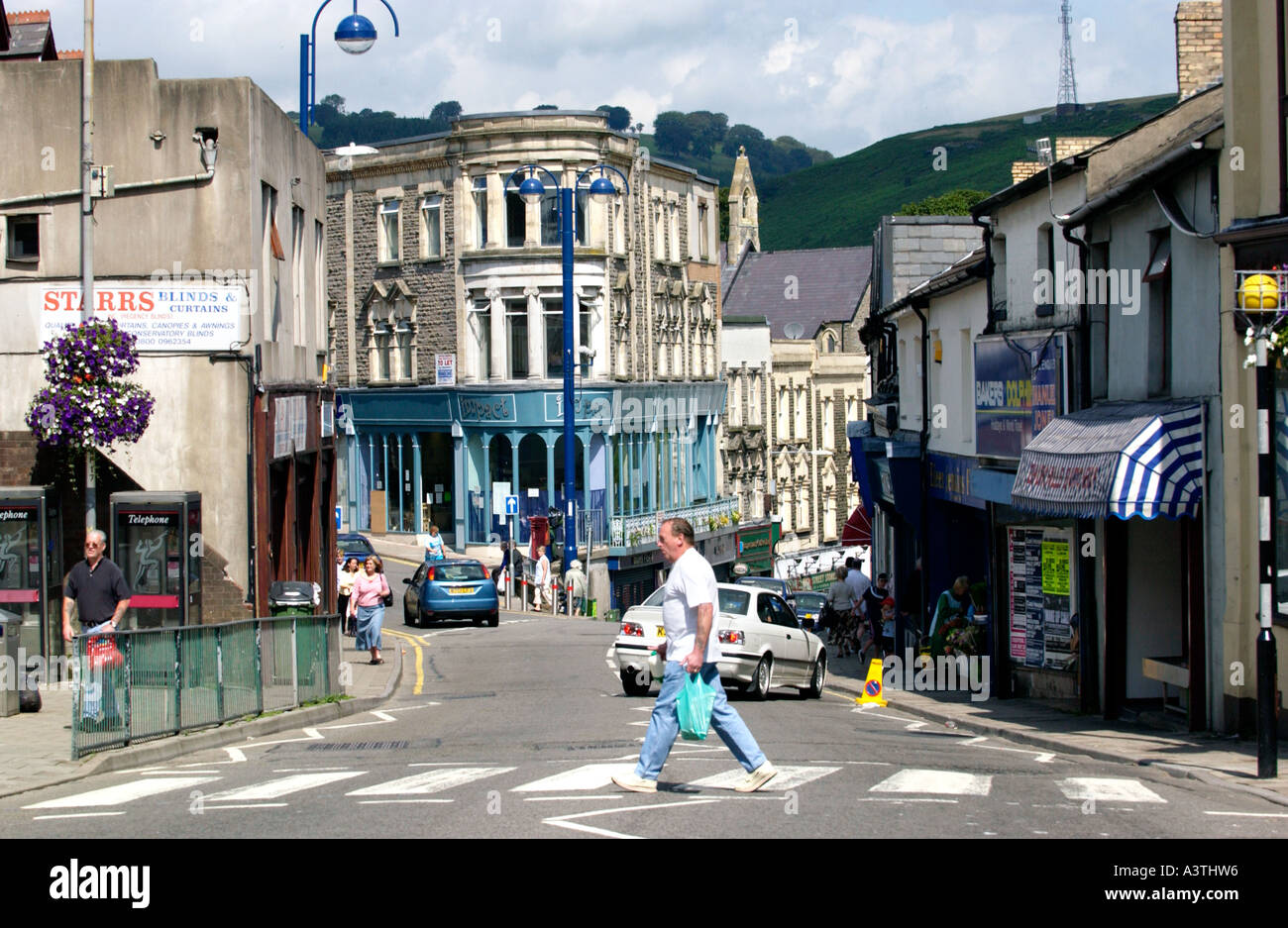 Town Centre Of Bargoed South Wales Wales Uk Stock Photo