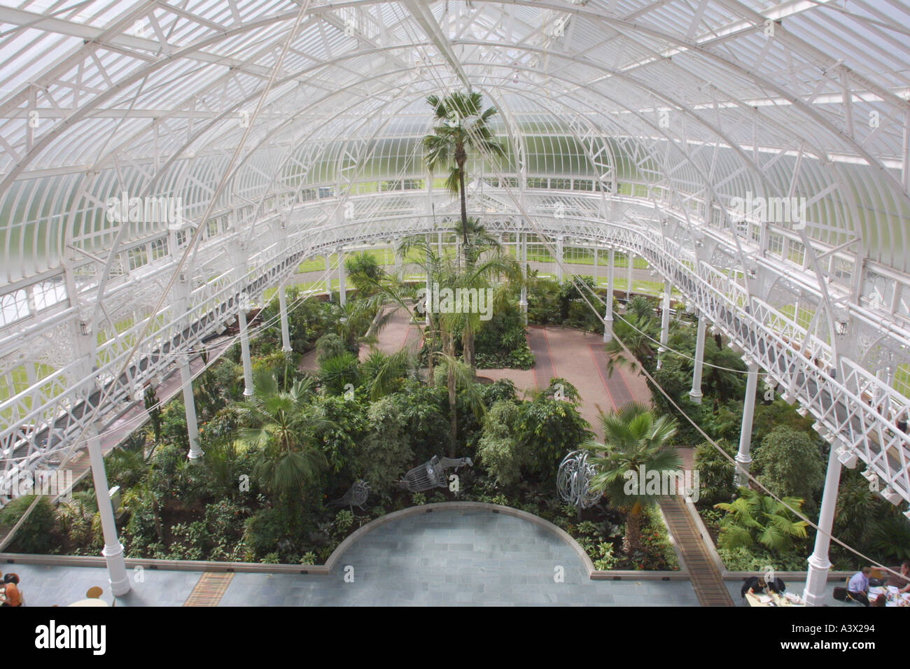 peoples palace museum and winter garden glasgow scotland uk stock