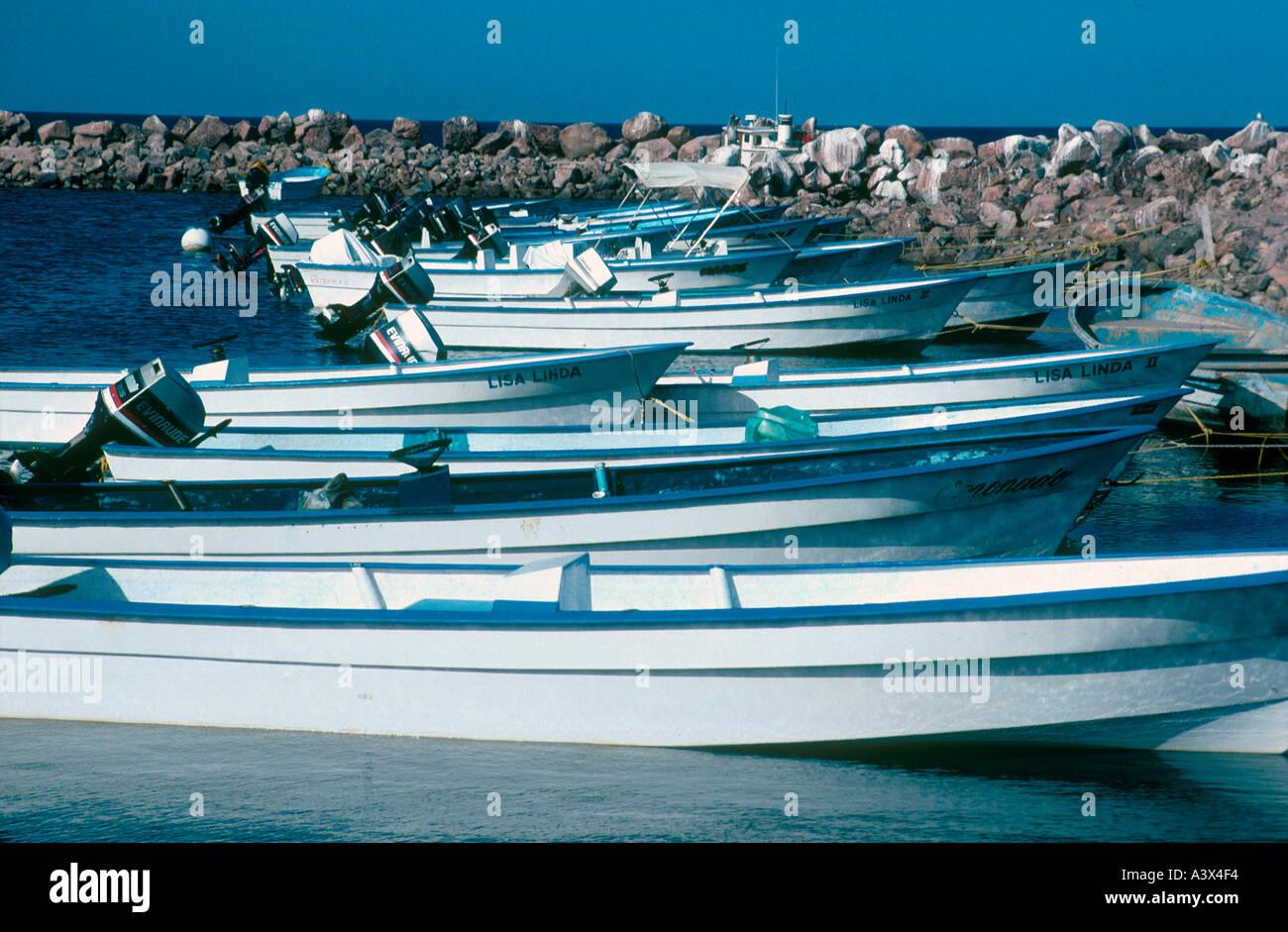 Fishing boats loreto baja california sur mexico stock for Baja california fishing