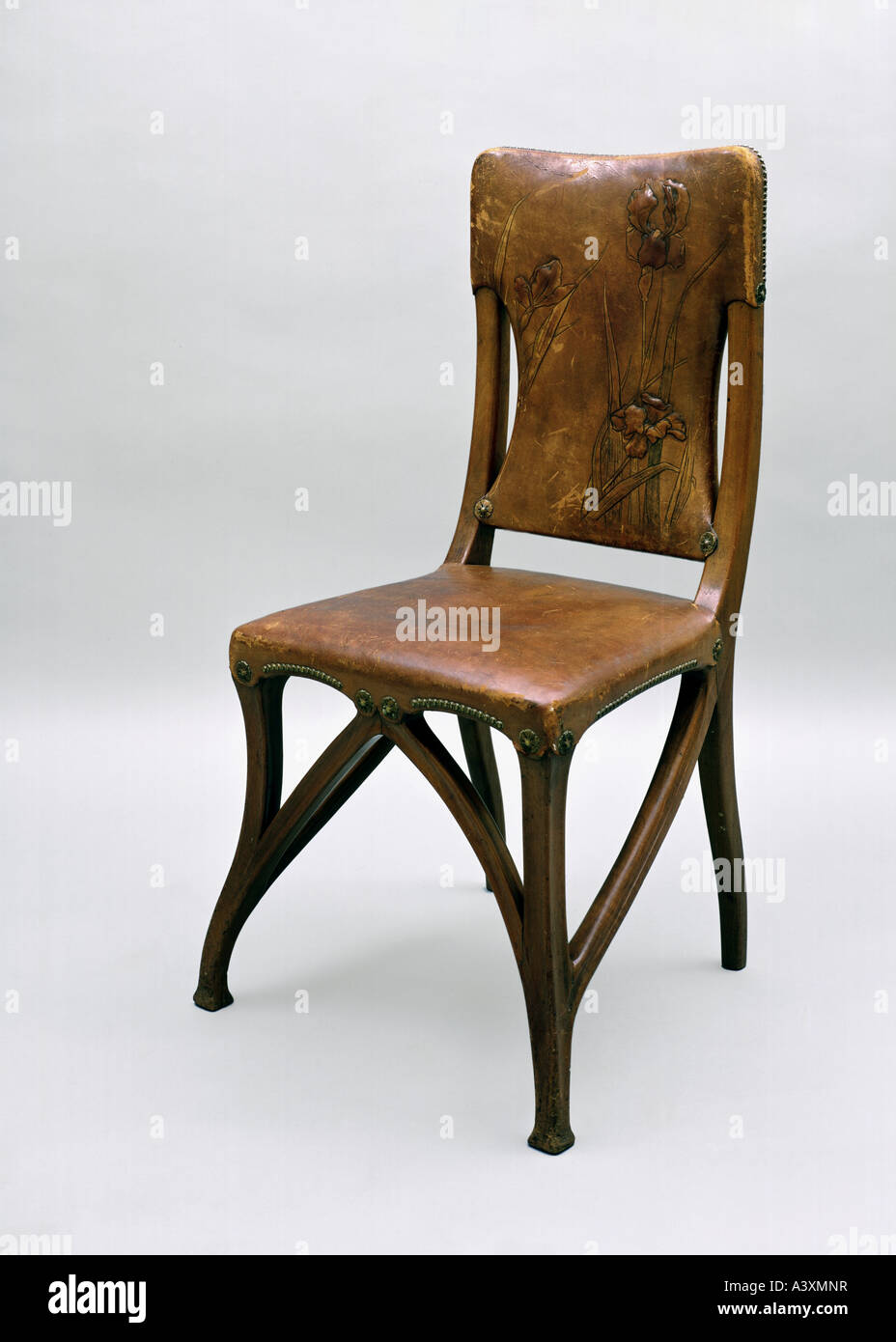 Fine arts art nouveau furniture chair circa wood