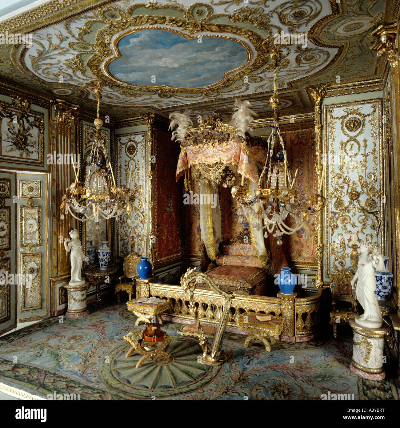 Four Poster Bed With Coronet In A Thierry Bosquet Dolls House Interiors Inspired By Rooms At Versailles