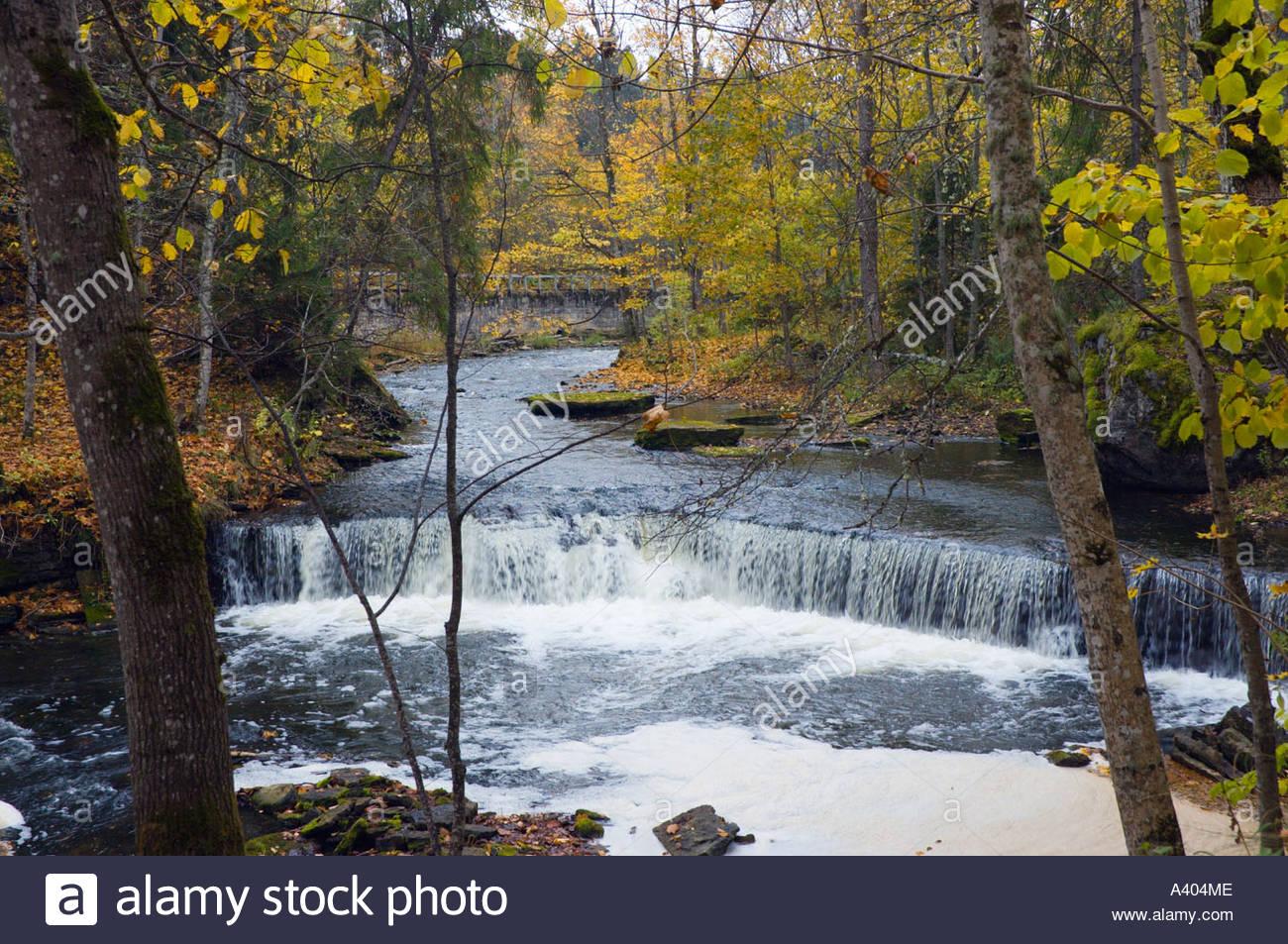 Europe eu estonia lahemaa national park nommeveski n mmeveski waterfall river valgejogi valgej gi