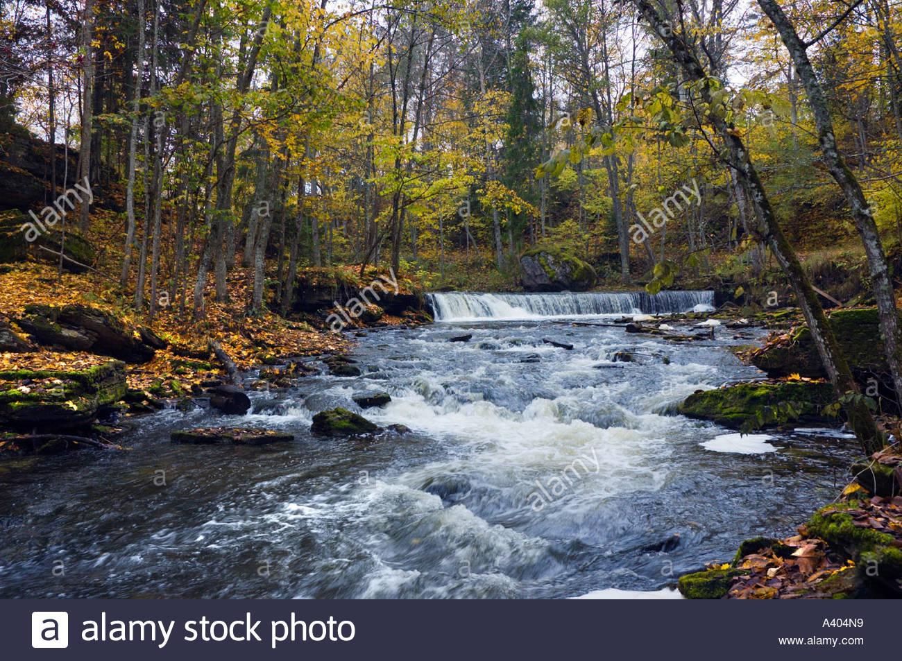 Europe eu estonia lahemaa national park nommeveski n mmeveski waterfall river valgejogi valgej gi colorful autumn