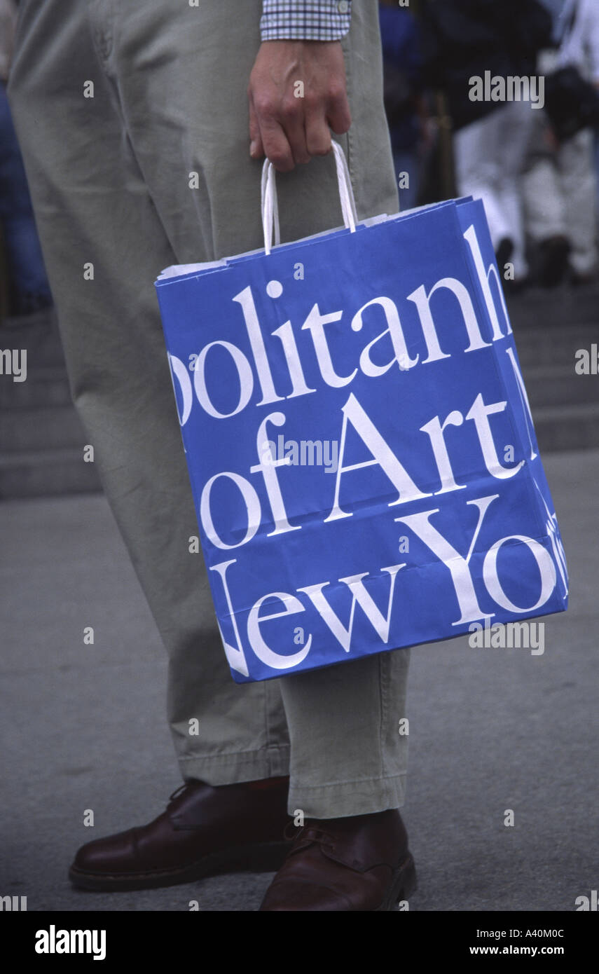 Art Bag Nyc Metropolitan Museum Of Art Shopping Bag New York City Usa Stock