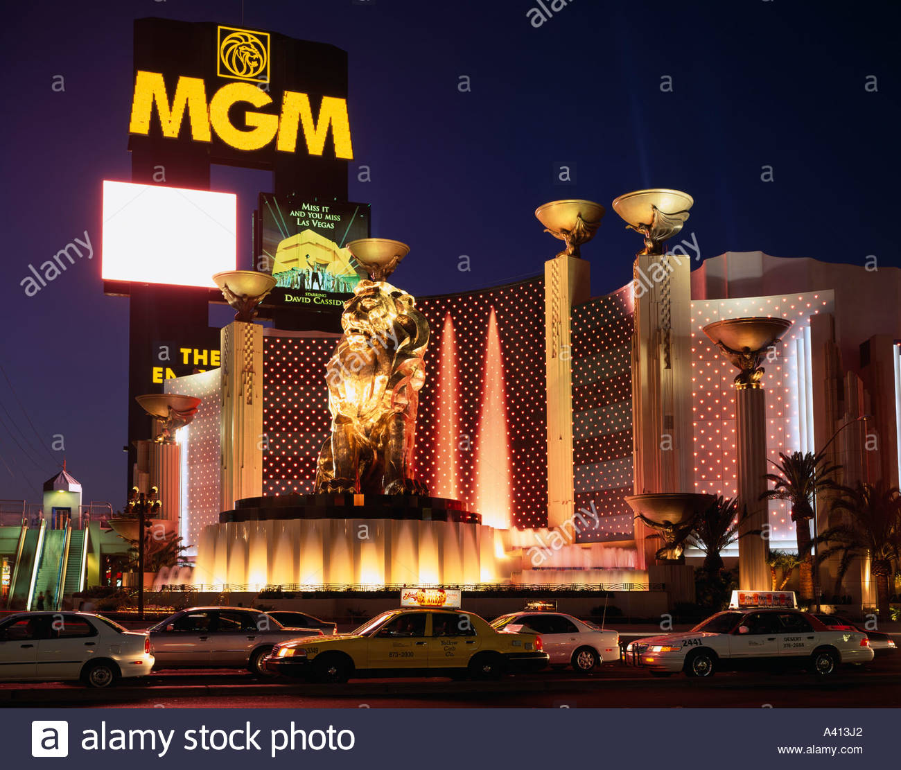Hotel Fountain Lighting Motorcade Palm tree Lion statue MGM Grand Las Vegas Nevada United States of America & Hotel Fountain Lighting Motorcade Palm tree Lion statue MGM Grand ... azcodes.com