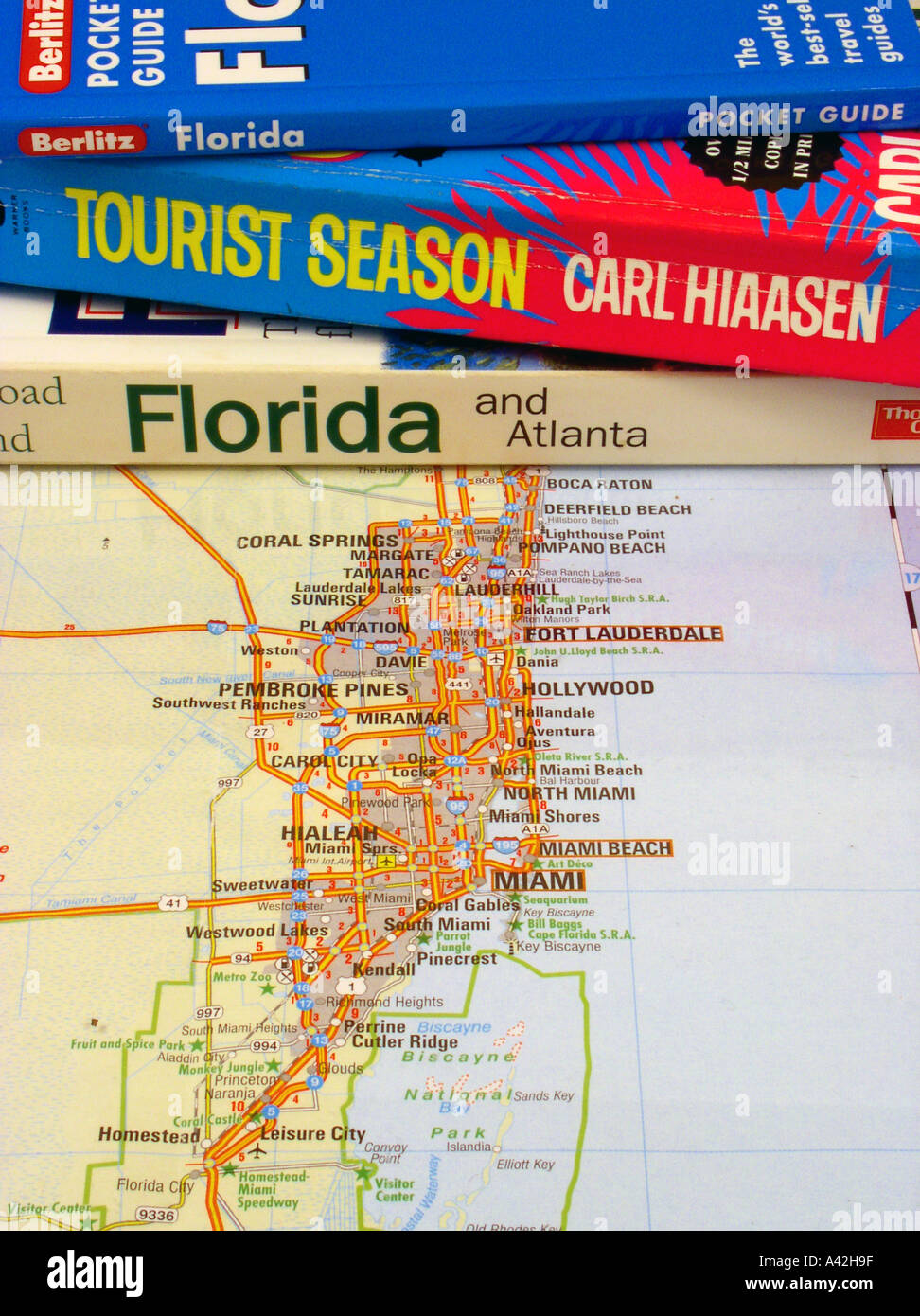 Florida Guide Guidebooks Carl Hiaasen Novel Tourist Season Map Of – Florida Tourist Map