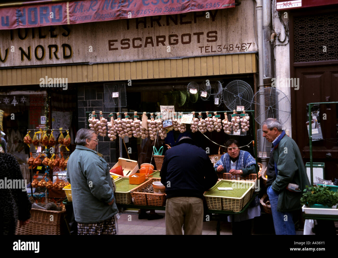 France languedoc roussillon garlic shop food market perpignan stock photo royalty free image - Boutique free perpignan ...