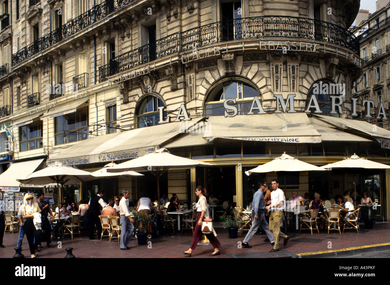 la samaritaine restaurant cafe bar pub marseilles vieux stock photo royalty free
