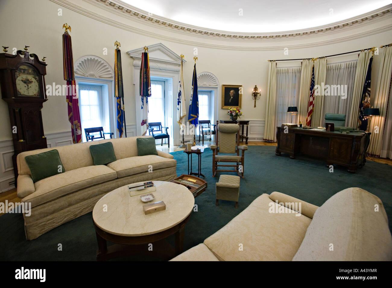 TEXAS Austin Oval Office Replica Interior Of Lyndon Baines Johnson
