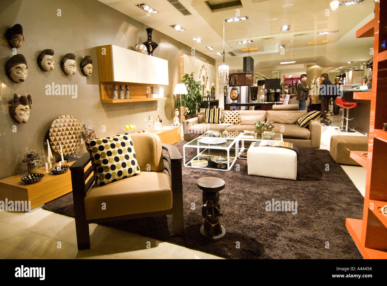 Stock Photo   Trendy Retro Furniture Store In The CHIADO District Of Lisbon  Portugal