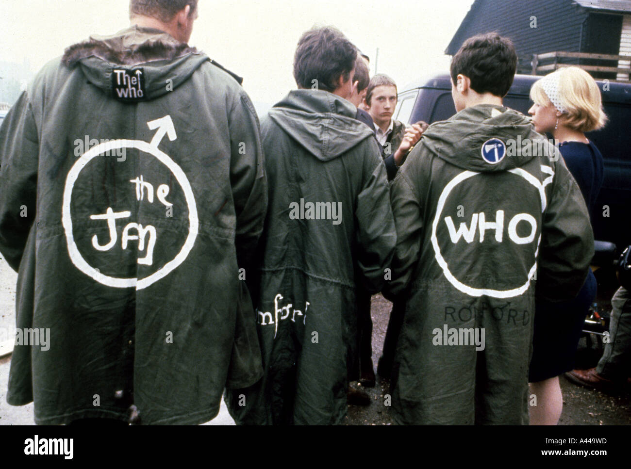 MODS wearing Parkas in 1967 Stock Photo, Royalty Free Image ...