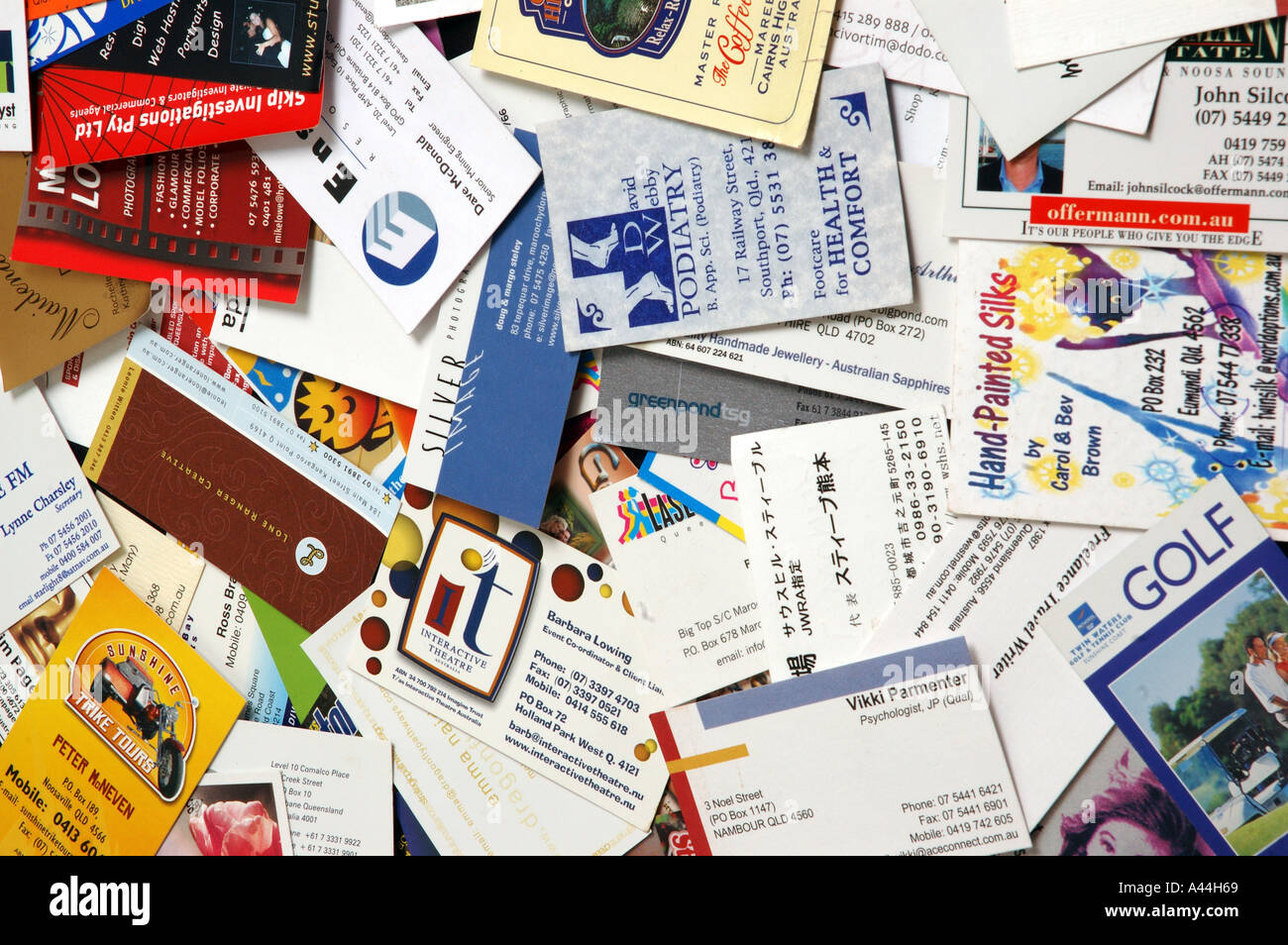 pile of mixed business cards dsca 2046 Stock Photo, Royalty Free ...