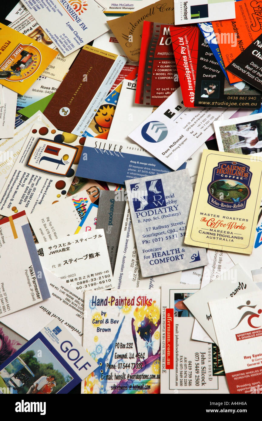 pile of mixed business cards dsca 2047 Stock Photo, Royalty Free ...