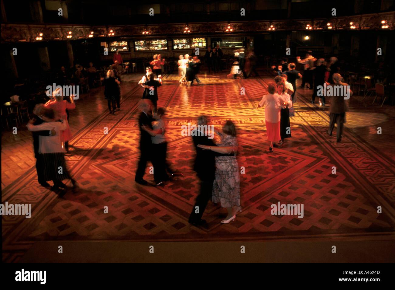 mixed couples ballroom dancing in the winter gardens blackpool uk