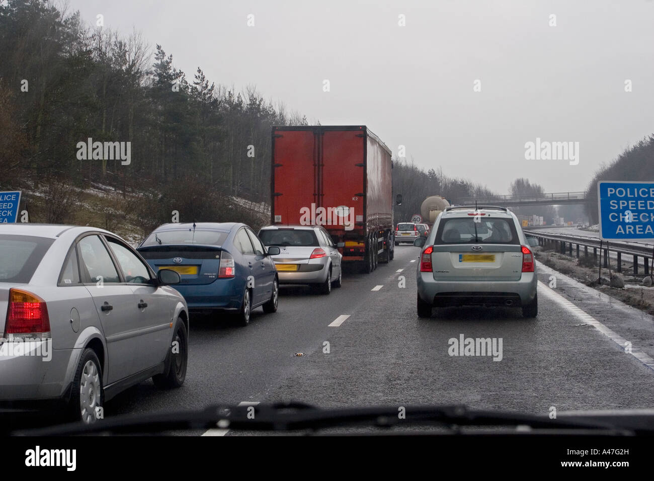 bad driving conditions in snow and wet weather seen through car stock photo royalty free image. Black Bedroom Furniture Sets. Home Design Ideas