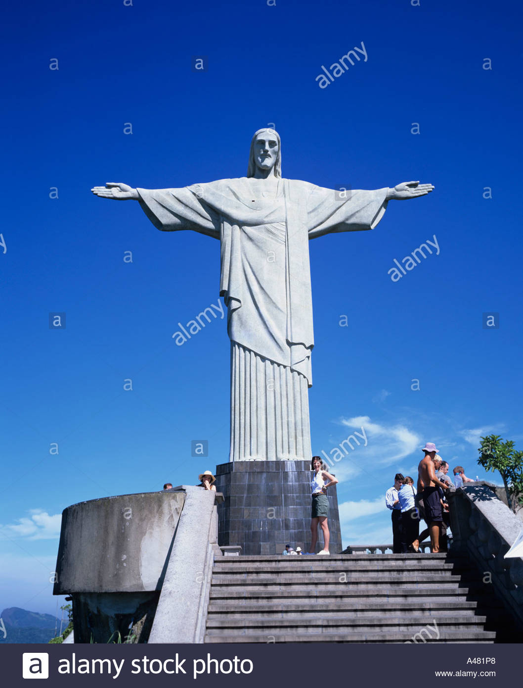 Hill Of A Morro Du Corcovado Jesus Christ Statue Rio De