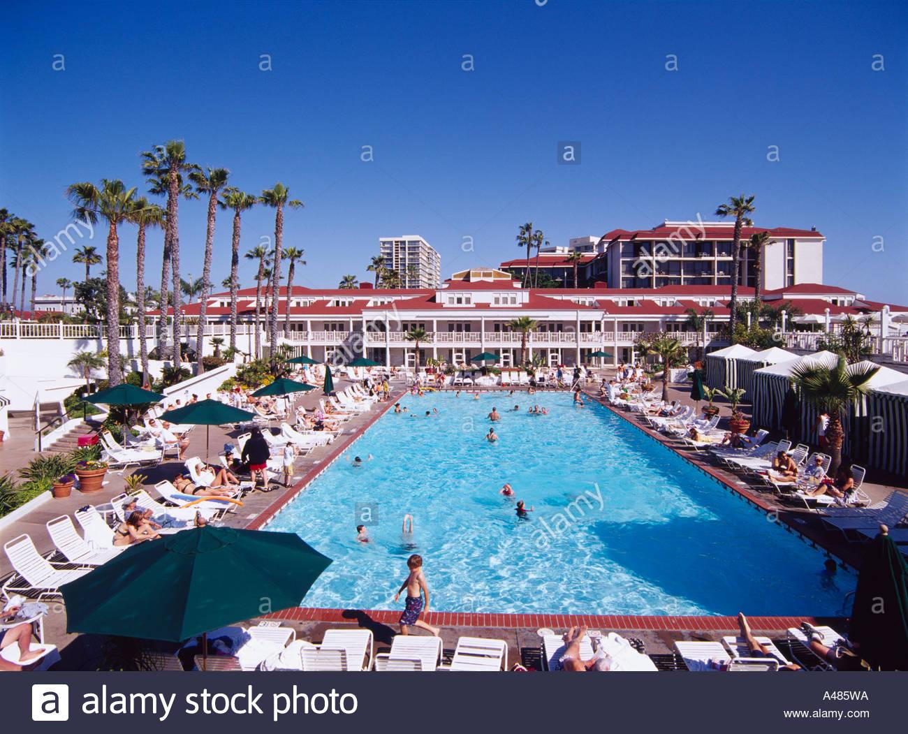 coronado hotel san diego california america blue sky pool parasol
