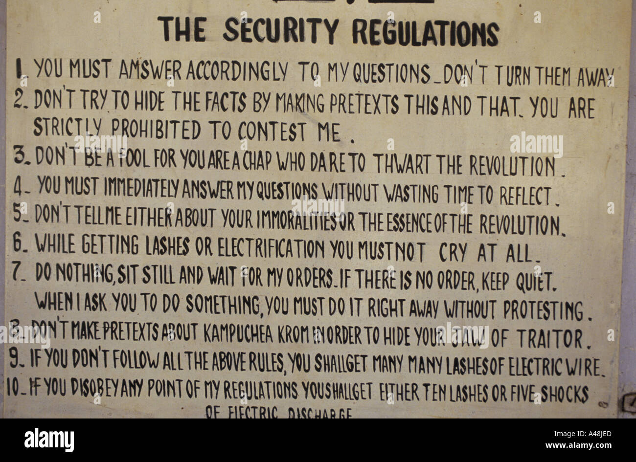 Camp Chair Notice Of Rules At Teul Slong Khmer Rouge Death Camp ...