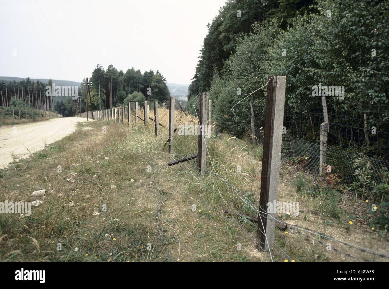 Iron curtain - Stock Photo Iron Curtain North To South Hungary Border Iron Curtain Coming Down Near Sopron 1989