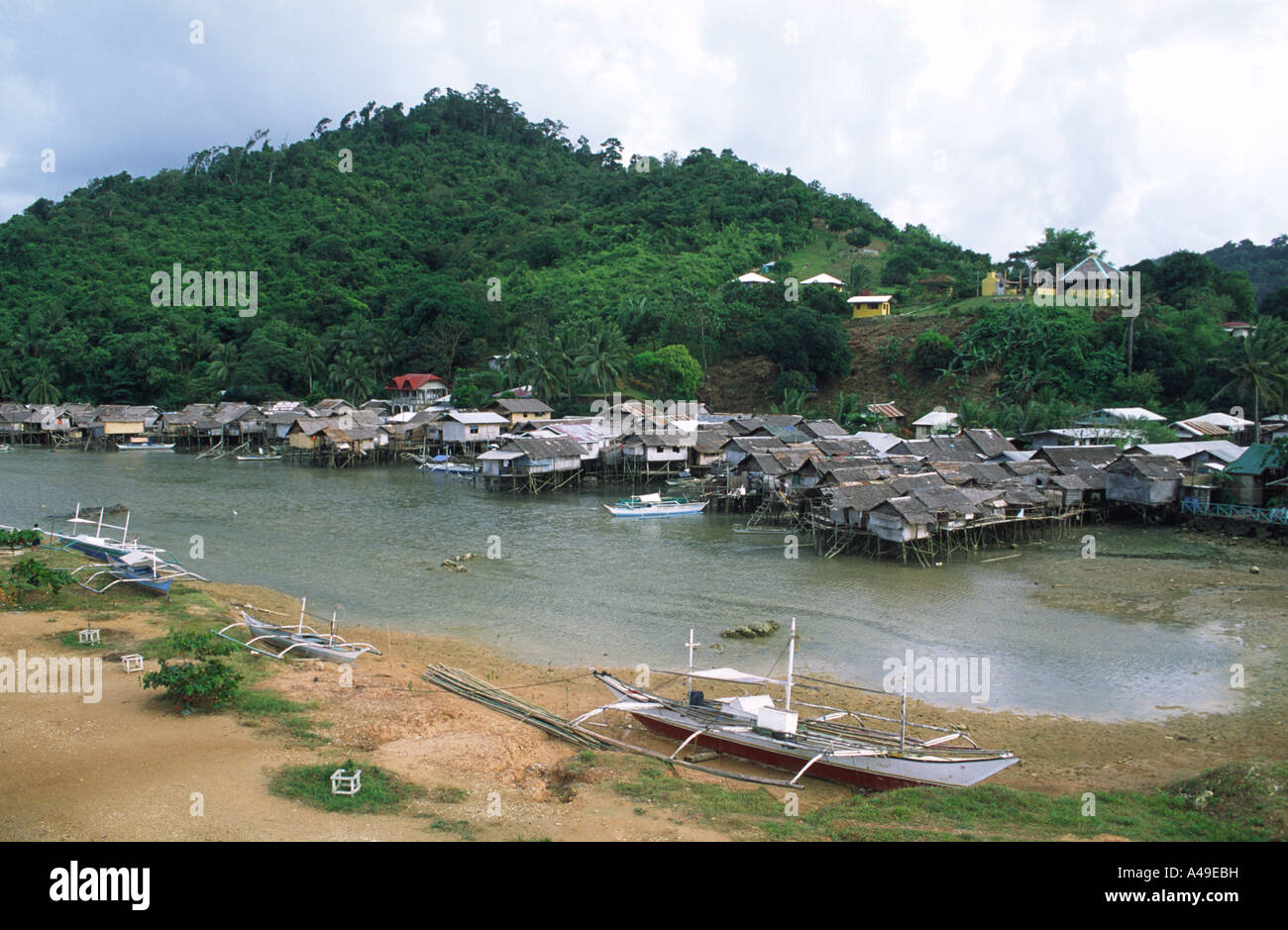 Taytay (Palawan) Philippines  City new picture : ... Stilt village in the town of Taytay Palawan Philippines Southeast Asia