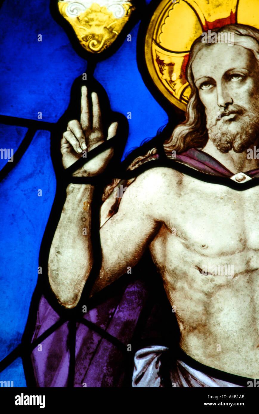 jesus christ god jesus christ god peace stained glass window