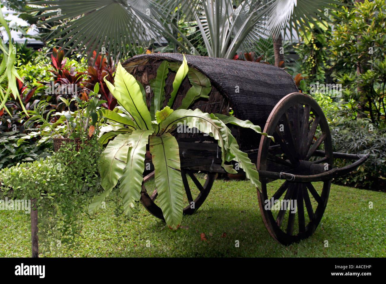 Decorative Sedan Chair In Thailand Garden Stock Photo, Royalty Free ...