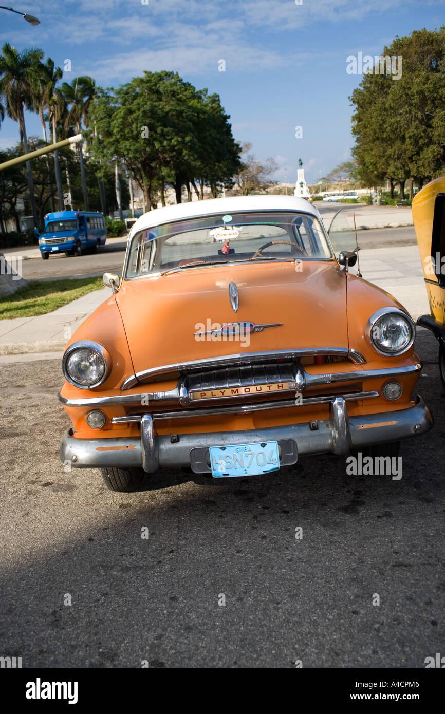 Old Plymouth American car in Havana, Cuba Stock Photo: 6290629 - Alamy