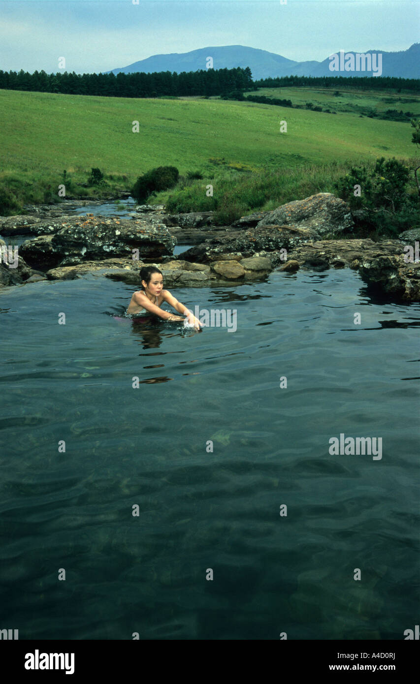 View Of Young Girl Swimming In Mountain Stream At Mac Mac Pools Stock Photo Royalty Free Image