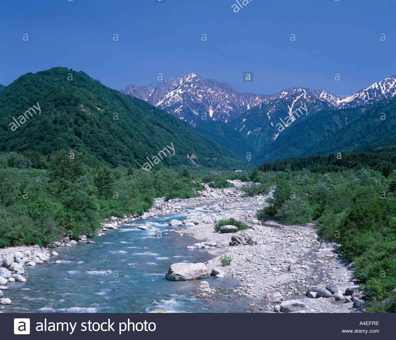Kamiichi Japan  city photos : Mt Tsurugi Hayatsuki River Kamiichi Toyama Japan Stock Photo, Royalty ...