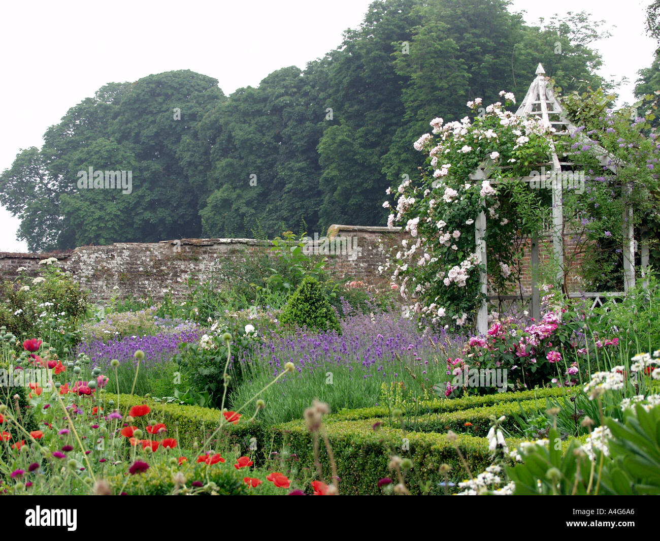 Walled Kitchen Gardens Beautiful Herb And Flower Garden In Old Walled Kitchen Garden With