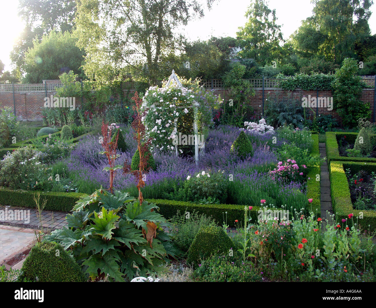 Walled Kitchen Garden Beautiful Herb And Flower Garden In Old Walled Kitchen Garden With