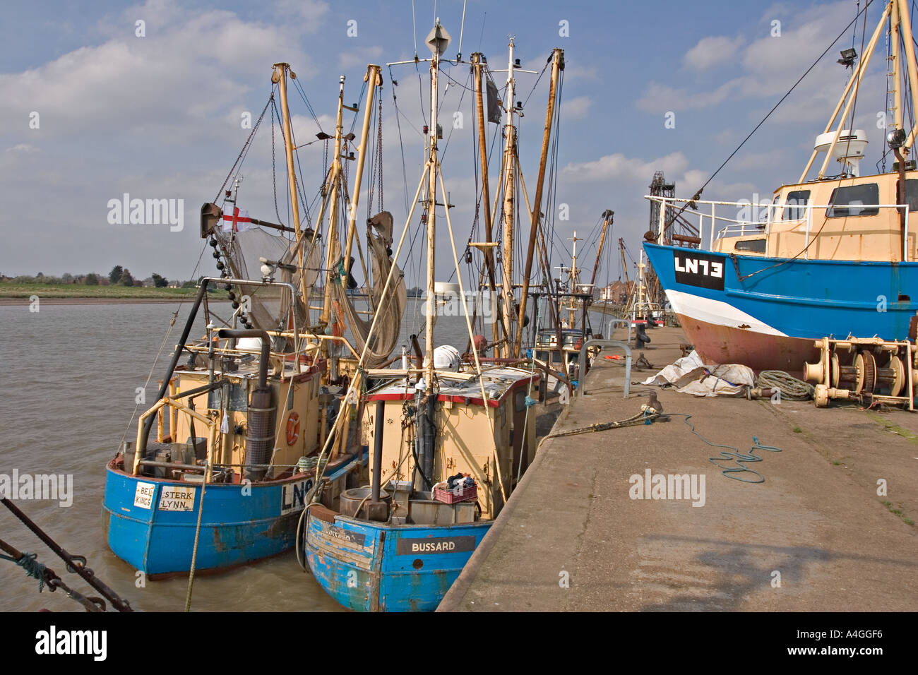 Shell fishing boats kings lynn norfolk uk stock photo for Fishing kings free