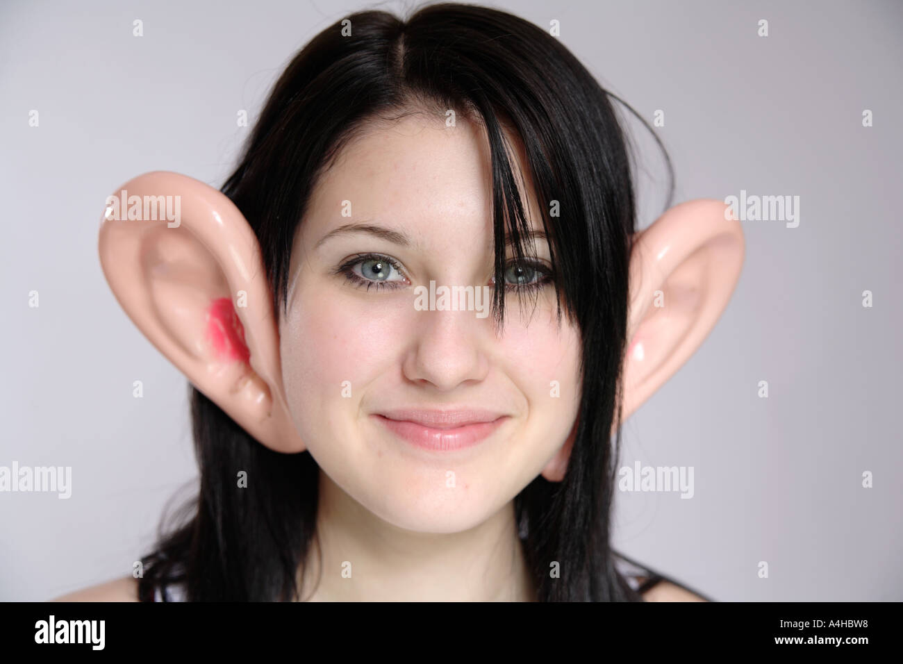 Humorous image of Young girl aged 16 with black hair ...